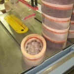 First level of bowl routing on interior of blanks completed