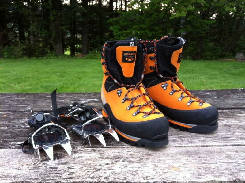 Footwear - I'm the first one in the family to get fancy Italian leather boots :) , and crampons