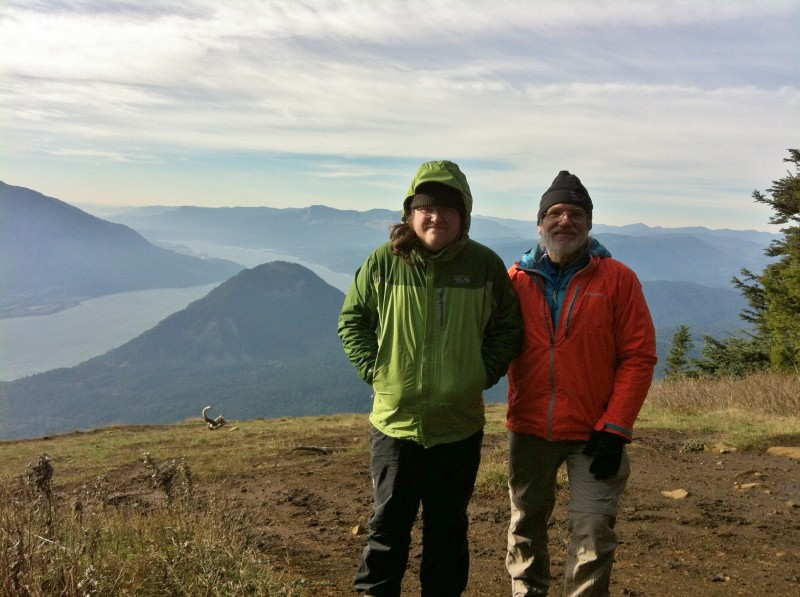 At the top, with Wind Mountain and the Columbia River down below