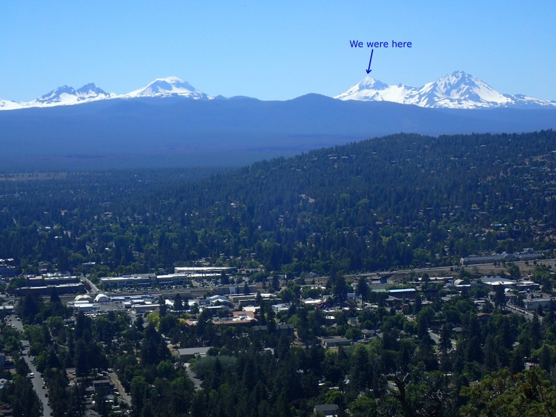 Middle Sister as seen from Pilot Butte in Bend